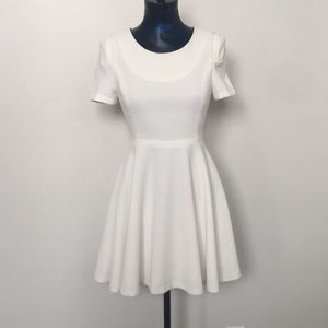 Six crisp days white fit and flare dress
